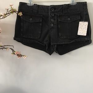 Free People 'Cora' Button Front Shorts
